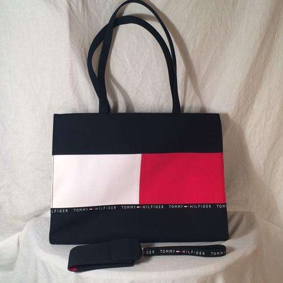 42818d0e9d1 Tommy Hilfiger Bags   Nwot Vintage Tote Bag Wristlet   Poshmark